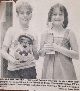 My brother and I on the front page of the Lewisville Leader, around 1977? 1978?