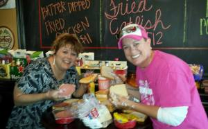 My sister, Danielle, and I spending a Saturday making sandwiches - Oct 2014
